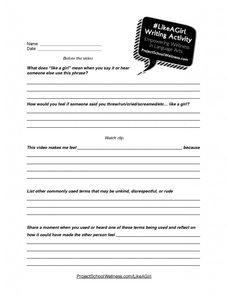 #LikeAGirl, Writing Activity, Project School Wellness (4)-page-001
