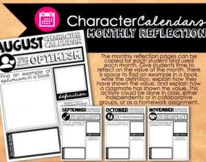 Blair Turner's Character Calendar