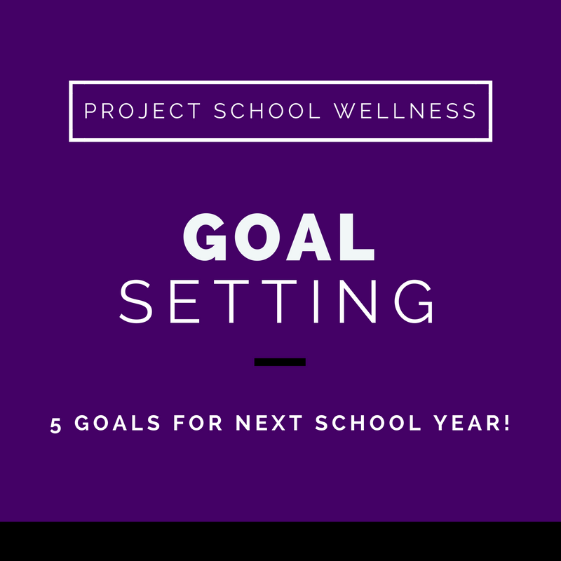 Project School Wellness, Health, Middle School, Teacher Blog, Goal Setting