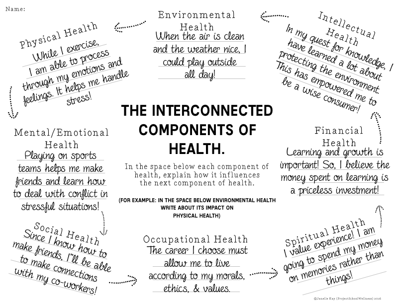 Components of Health Worksheets.007