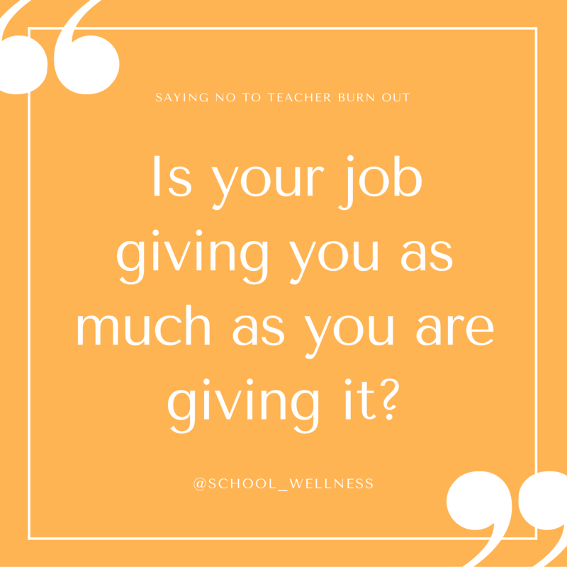 Is your job giving you as much as you are giving it-