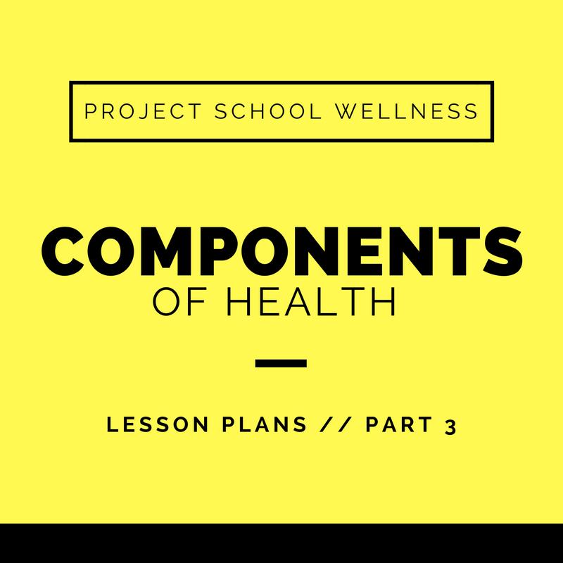 Project School Wellness, Health Blog, Wellness Blog, Teacher Blog, Components of Heatlh