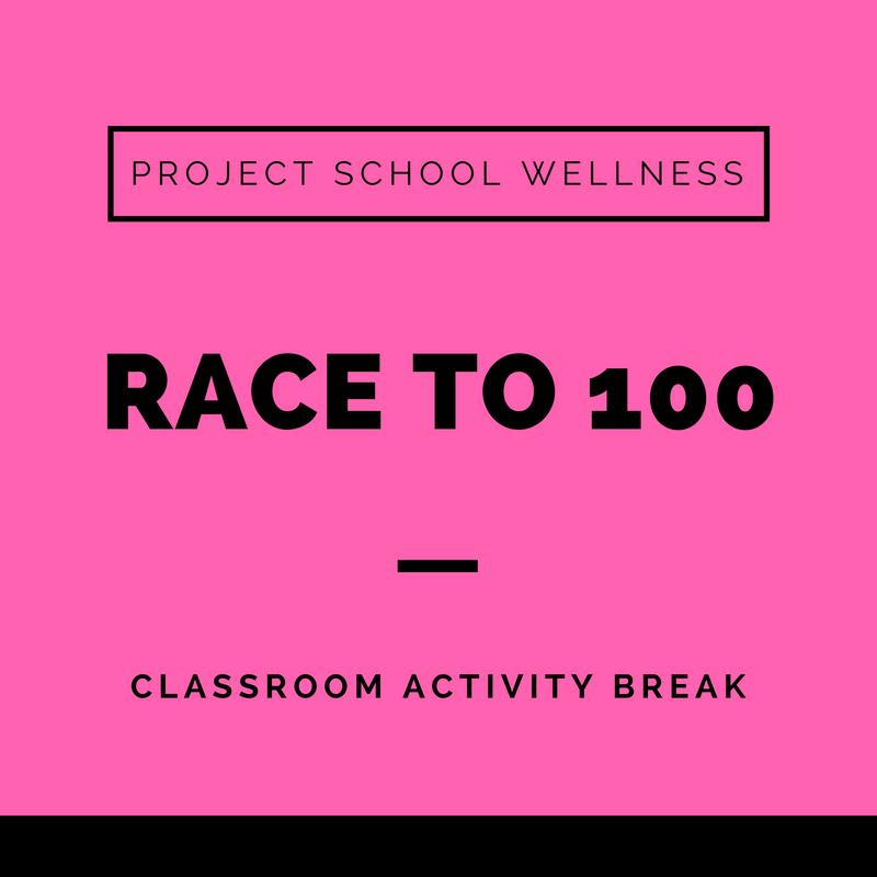 Project School Wellness, Health Blog, Wellness Blog, Teacher Blog, Classroom Activity Break