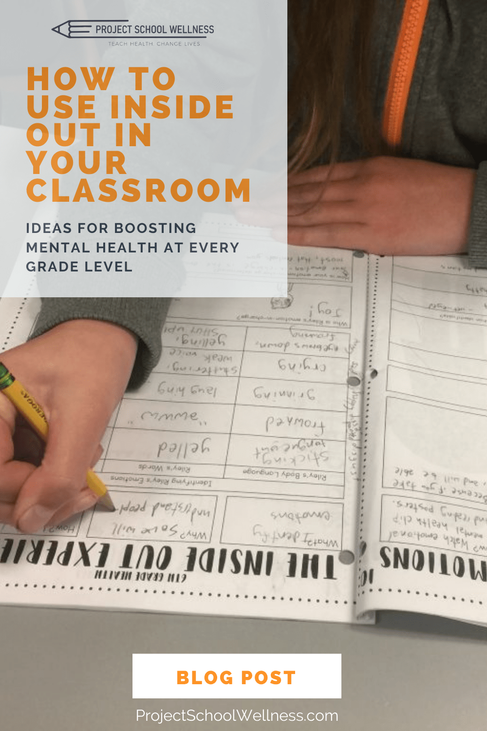 Ideas for Boosting Mental Health at Every Grade Level and how to use Inside Out in your classroom to teach Health Education