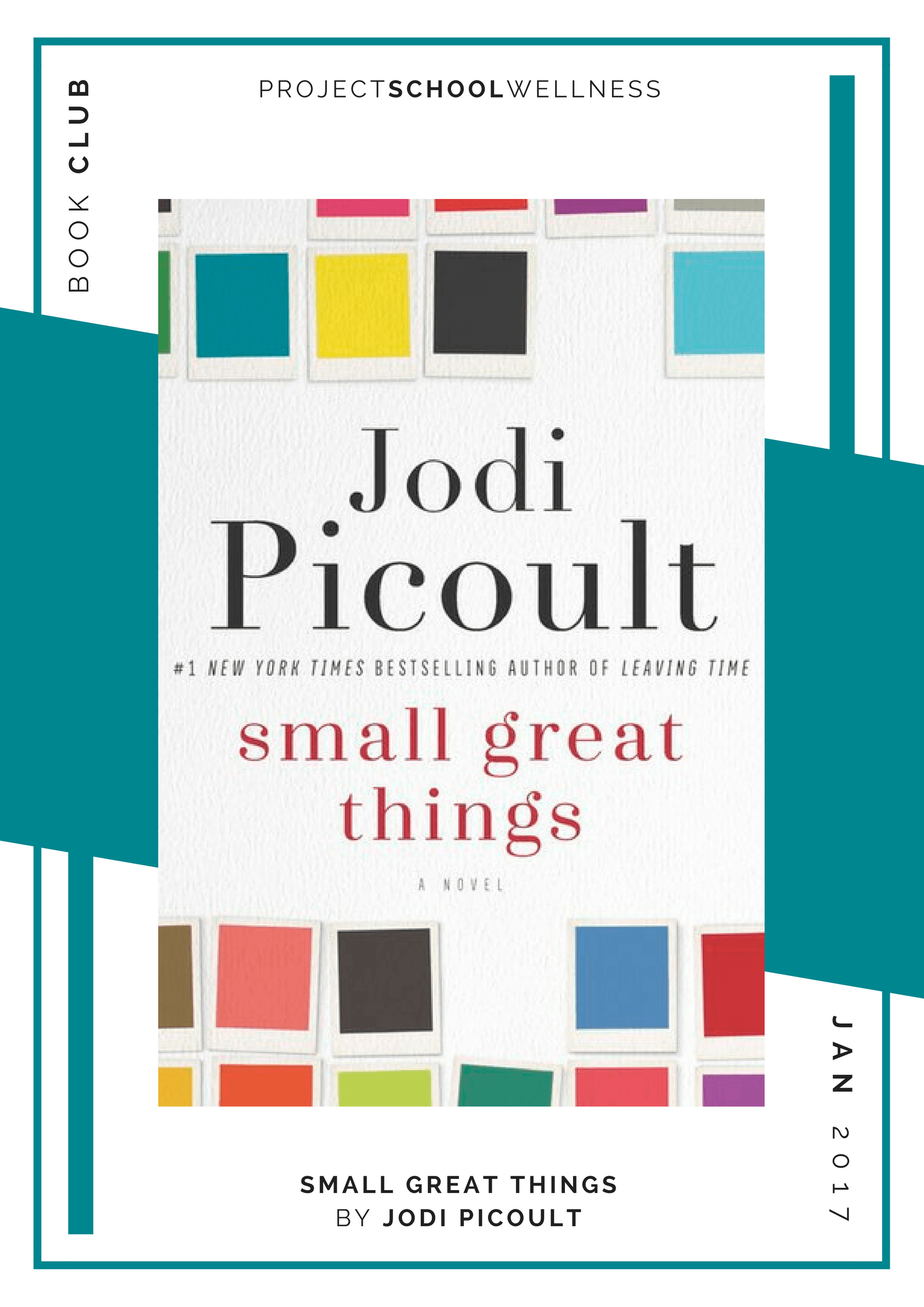 Jodi Picoult, Small Great Things - Project School Wellness' Teacher Book Club, must read books for every teacher!