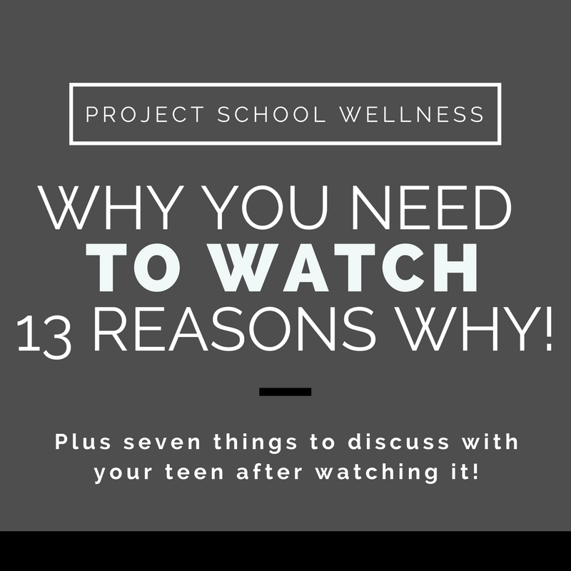 There's really only one reason you NEED to watch 13 Reasons Why, plus seven things to discuss after watching it with you teen. Click to see why you need to watch Netflix's latest phenomena!