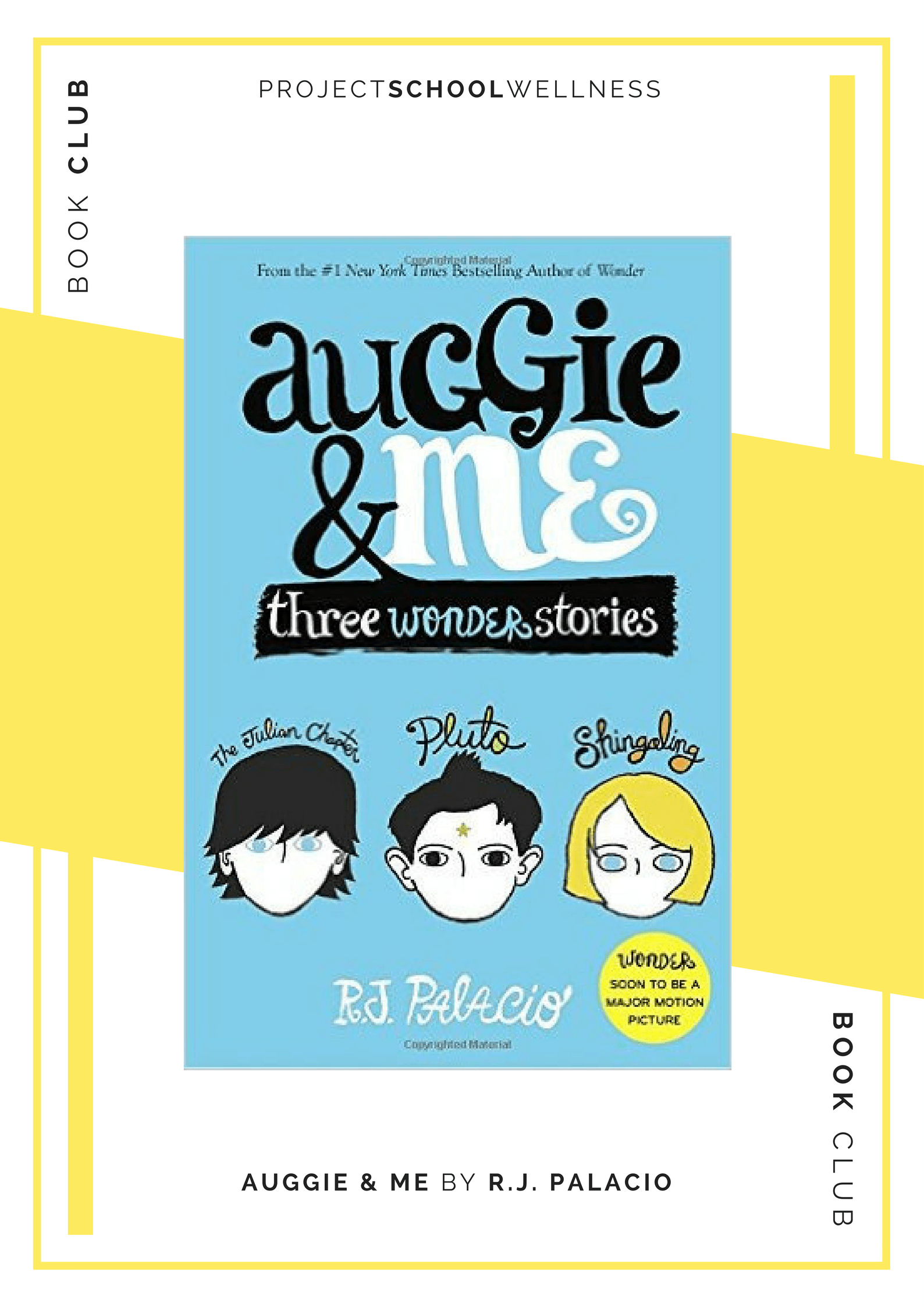 Project School Wellness book club. A list of must read books for teachers and parents! Each month Janelle from Project School Wellness her most current reads. Continue Auggie's story with this incredible Wonder companion book. Auggie and Me steps into the heart and minds of Auggie's classmates and friends.