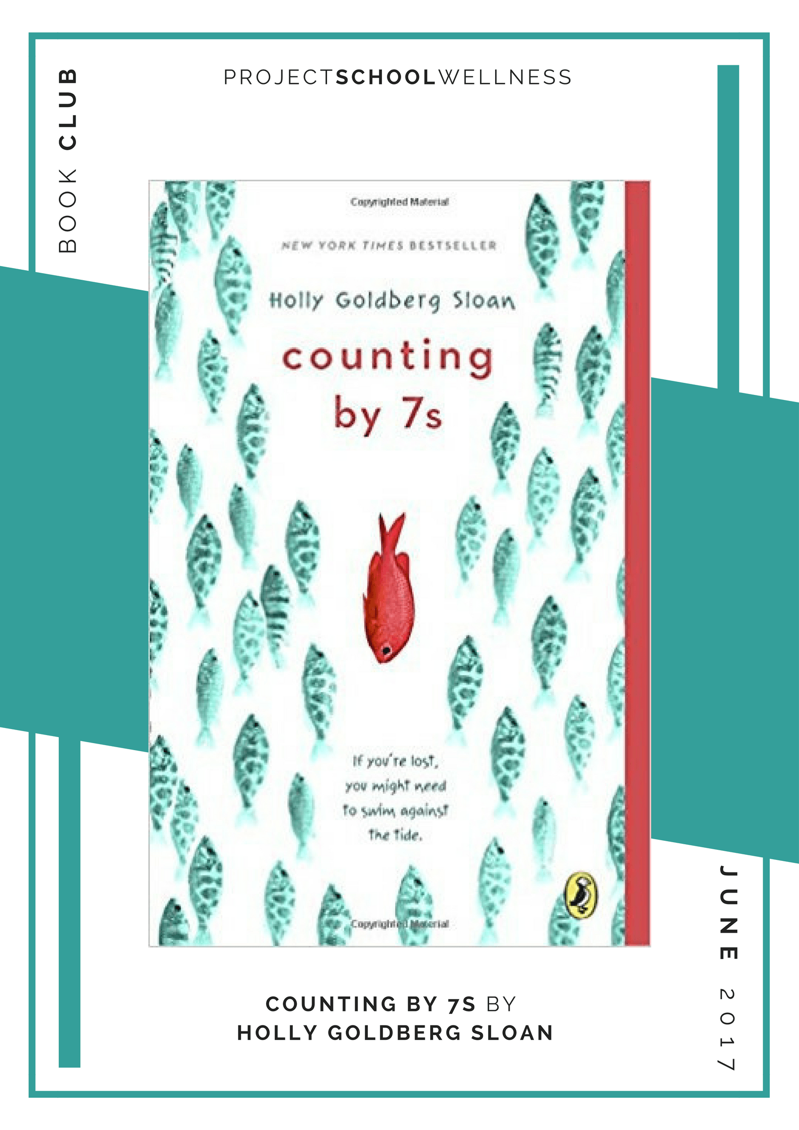 Project School Wellness book club. A list of must read books for teachers and parents! Each month Janelle from Project School Wellness her most current reads. Learn about dealing with life and learning how to fit in and find family with Holly Goldberg Sloan's Counting by 7s.