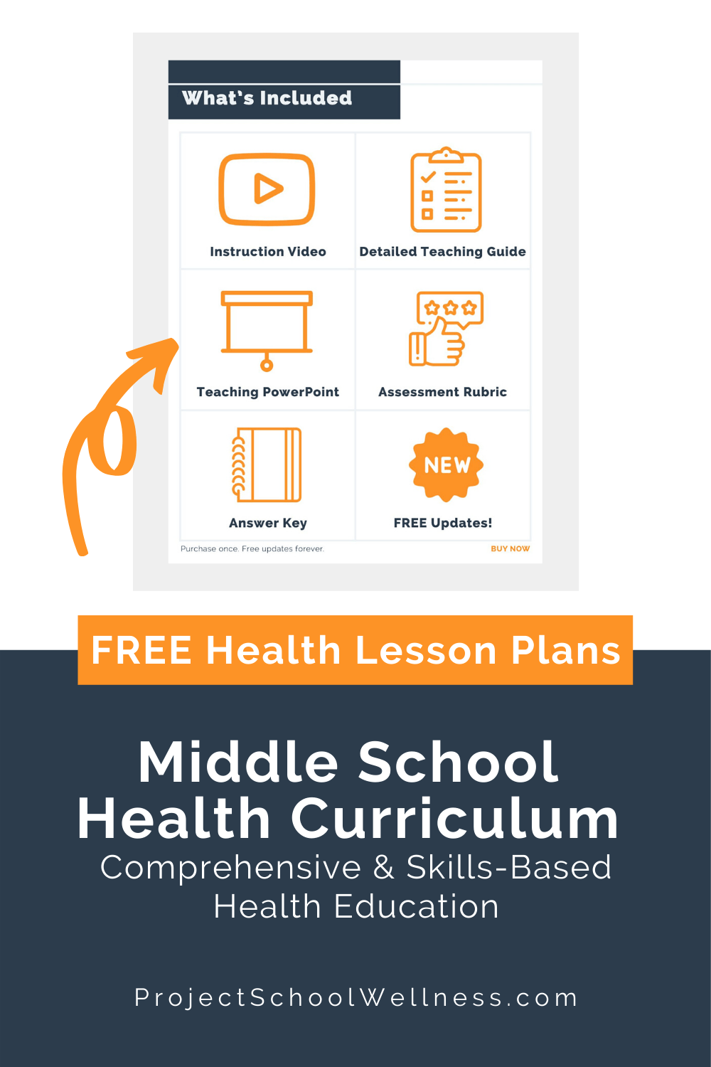 Download five FREE LESSON PLANS! Use this comprehensive and skills-based middle school health curriculum to teach students how to create a healthy life. This is a complete health education middle school program and comes with hundreds of health lesson plans requiring no extra planning and minimal prep. Includes health education posters, health education lessons, mental health lesson plan ideas, SEL activities for kids, health lessons for middle schools, and health worksheets.