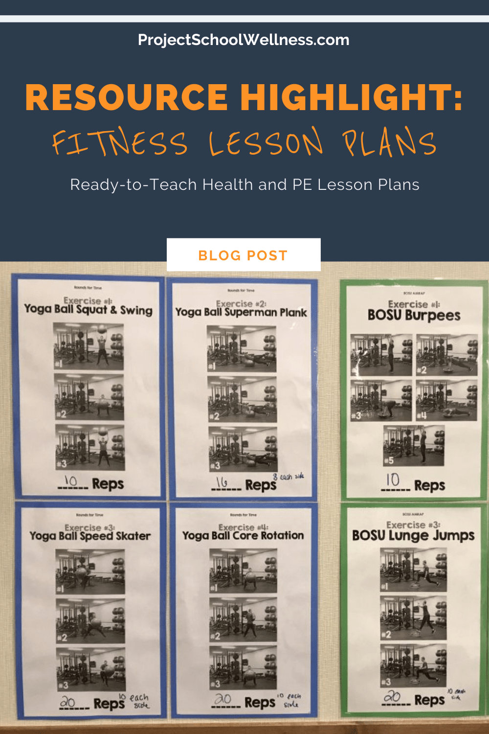 Fitness Lesson Plans a health and physical education unit - teach students the basics of designing a fitness routine and setting goals.