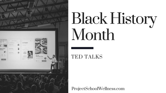 Black History Month - Ted Talks for Teachers. Project School Wellness takes a look at how teachers can facilitate relevant and transformational converstaion centered on Black History in the United States of America. This post shares 20 resources for middle schools teachers to teach students about Black History and to help students take an active role in society!