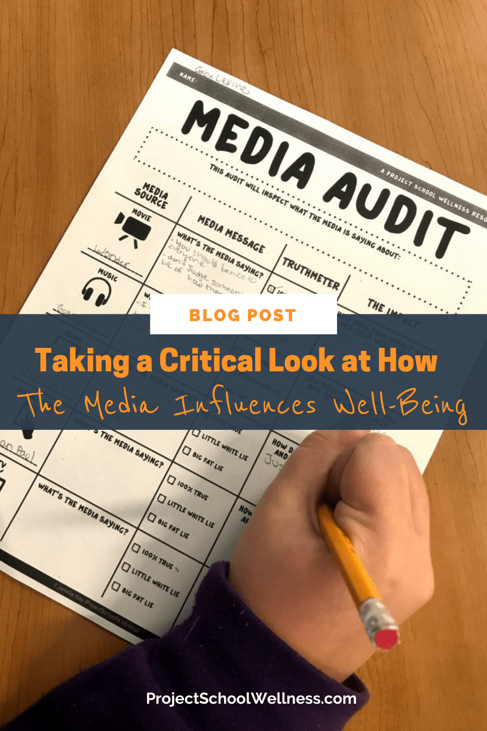 Teach students how to analyze influences  with this media audit activity.