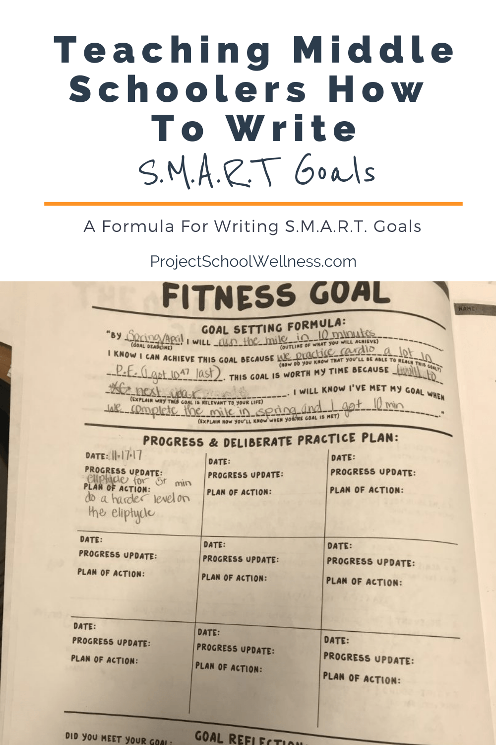 How to teach students how to write goals using the SMART goal formula - a look at the health education skill of writing goals