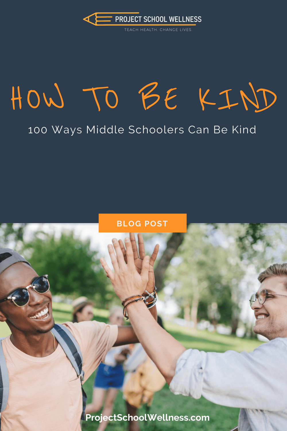 How to Be Kind - 100 Random acts of Kindness for students to try - tips for boosting school culture