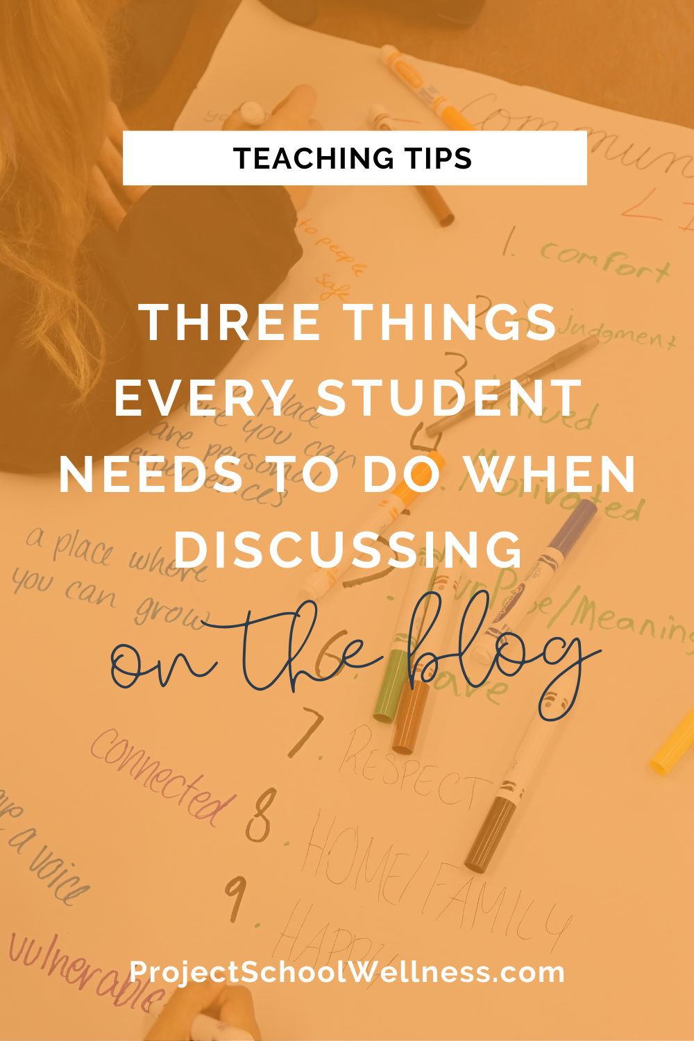 Health Education Blog - Three things EVERY students need to do when discussion - Teaching tips for better classroom discussion - Project School Wellness