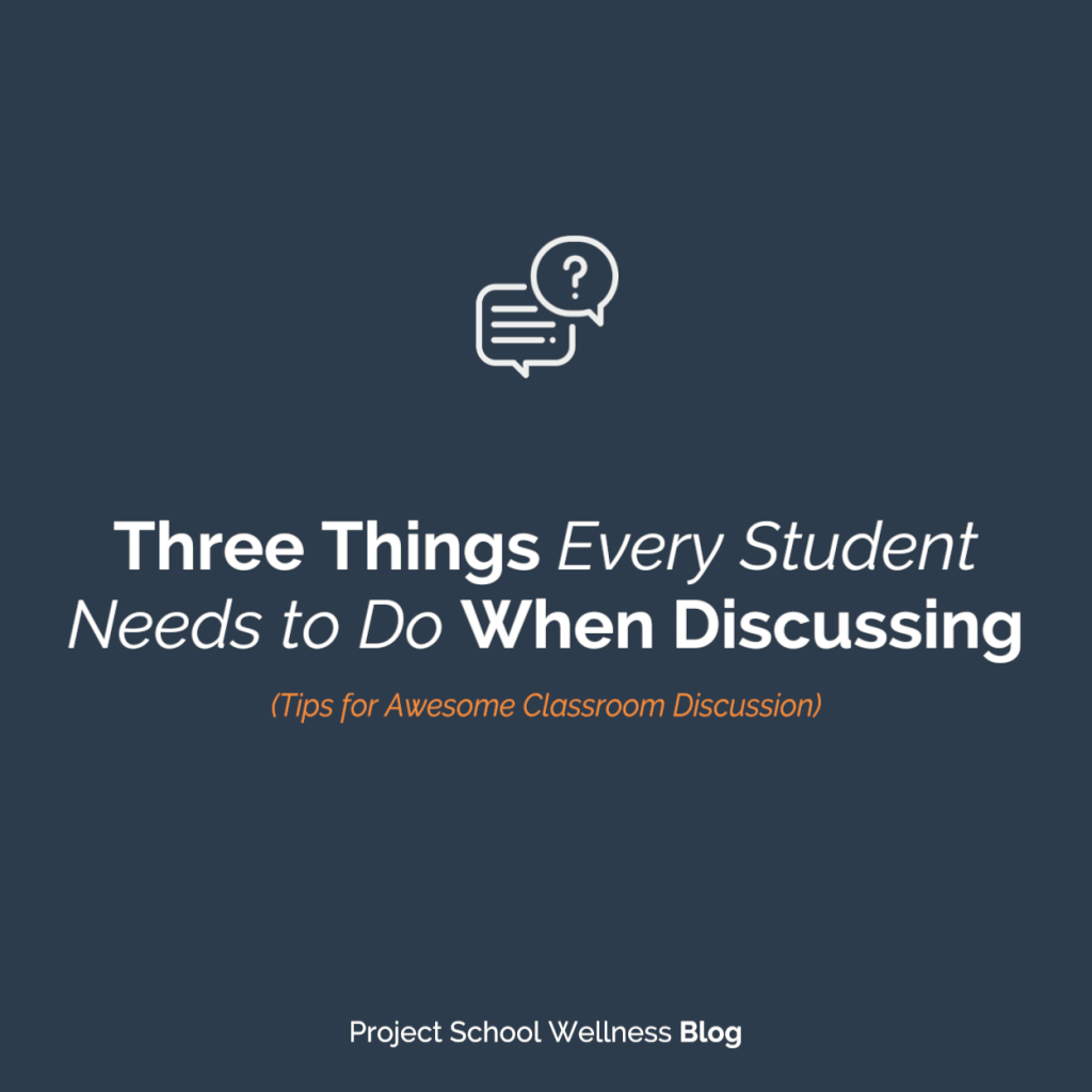 PSW Blog - Three Things Every Student Needs to Do When Disucssing