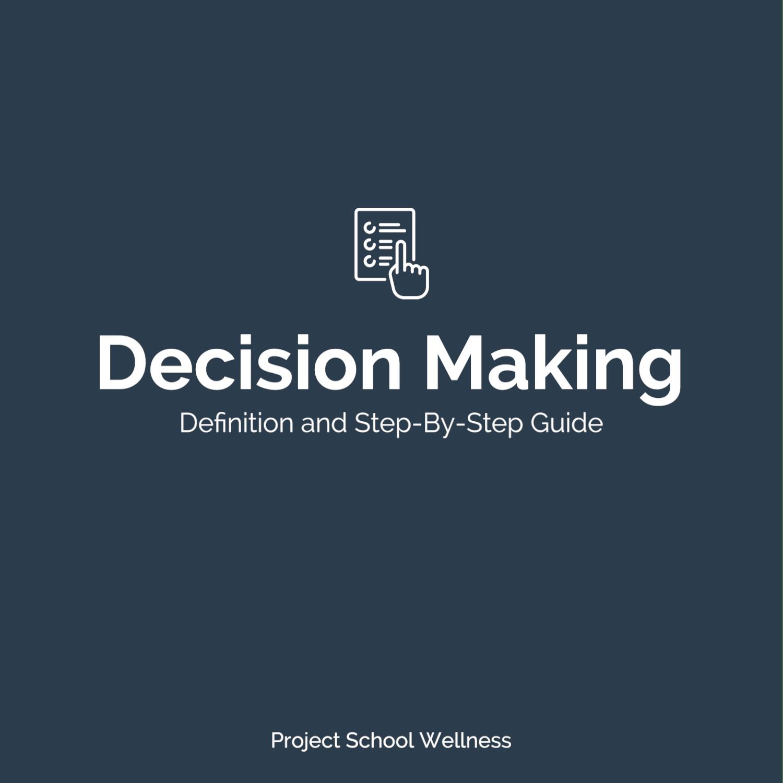 PSW Blog - Health Education Skill Decision Making