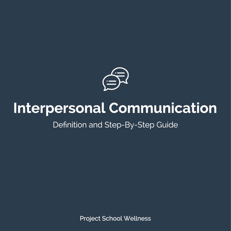 PSW Blog - Health Education Skill Interpersonal Communication