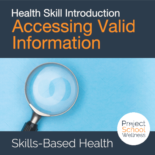PSW Store - Health Education Skill Intro - Accessing Valid Infor